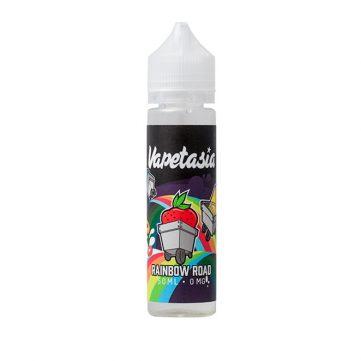 Rainbow Road - e-tekočina z okusom jagod, borovnic, limone, kosmičev in mleka