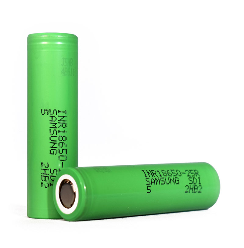 Kvalitena Samsung 18650 baterija kapacitete 2500 mAh