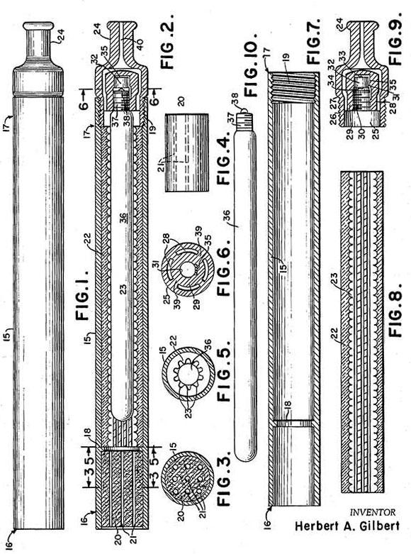 Patent prve e-cigarete iz leta 1963