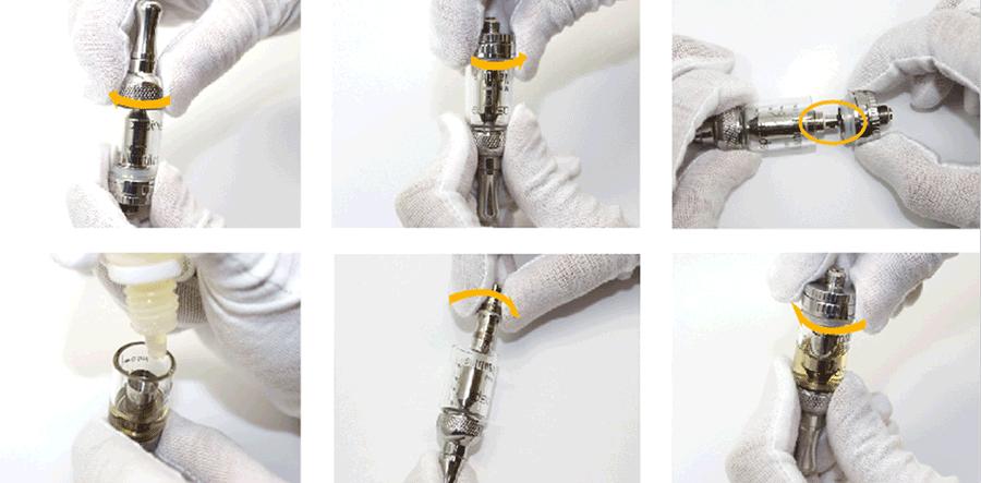 aspire nautilus mini clearomizer atomizer tank uparjalnik elektronska cigareta polnjenje