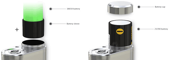 iStick Pico 21700 mod elektronska cigareta e-cigareta e-kajenje adapter