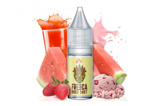 Fresca - Kozarec hladnega in osvežilnega soka lubenice z jagodnim sorbetom (s hladilnim efektom).