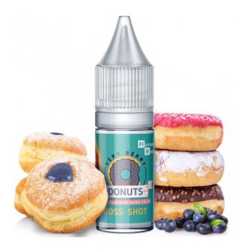 Very Berry Donuts - Krof z gozdnimi sadeži in borovničevim polnilom.