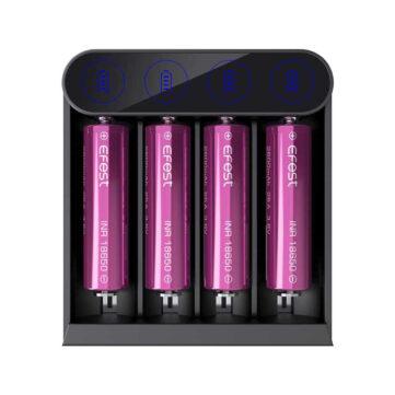 Priročen in zanesljiv polnilec baterij Efest SLIM K4
